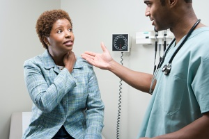 women talking to doctor about Anxiety Management